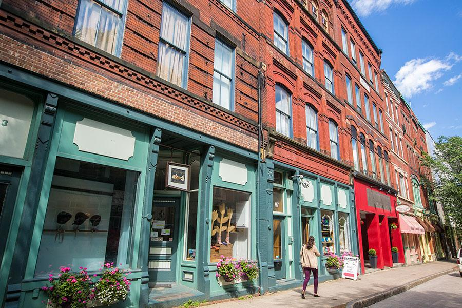 The historic district in Uptown Saint John