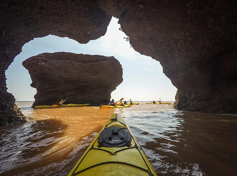 Kayaking high tide at The Hopewell Rocks