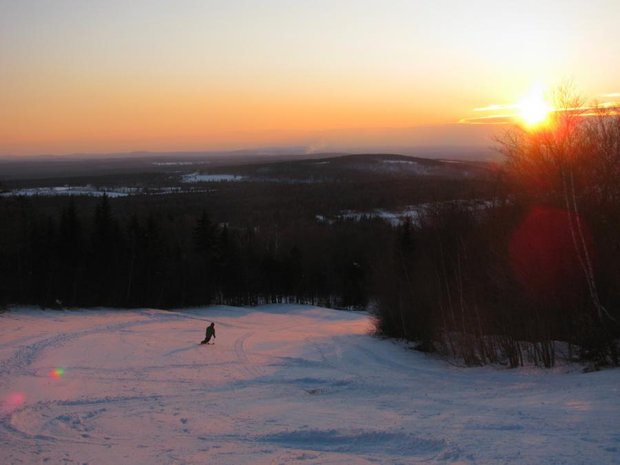 Hitting the slopes at Crabbe Mountain