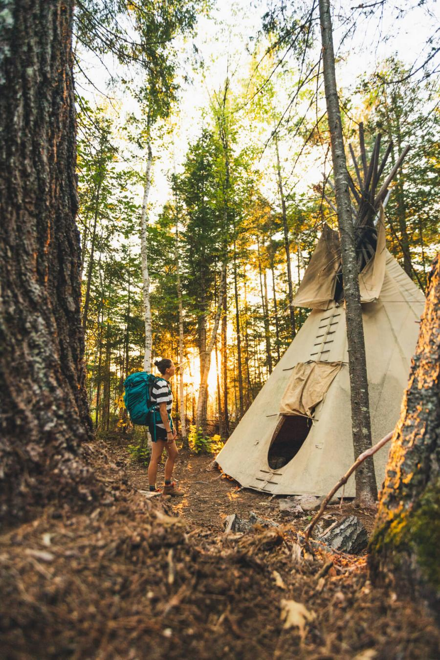 Backcountry camping on the Nepisiguit Mi'gmaq Trail