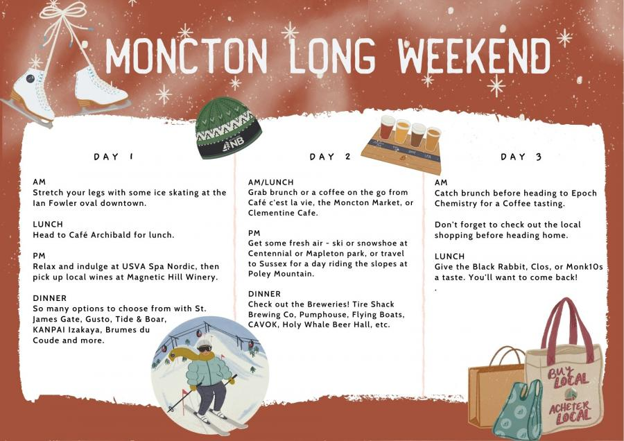 Moncton Valley Winter Getaway Itinerary