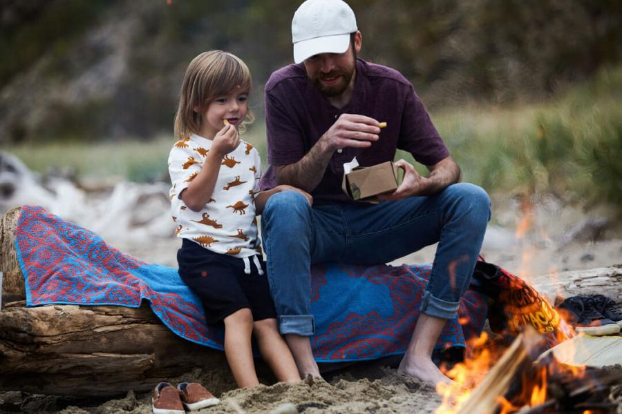 Cosy family camp fires on the Acadian Coast