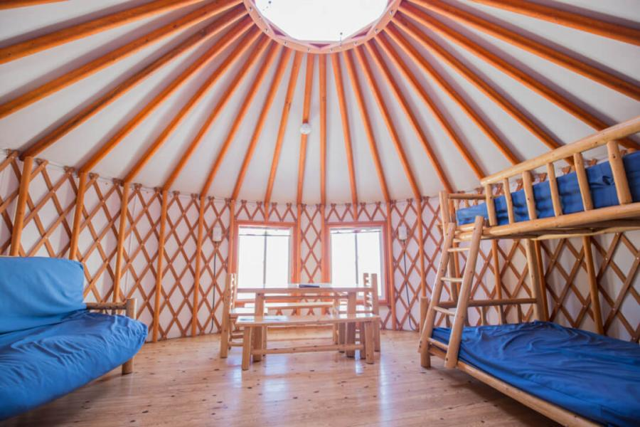 Spacious and airy yurt at Fundy National Park