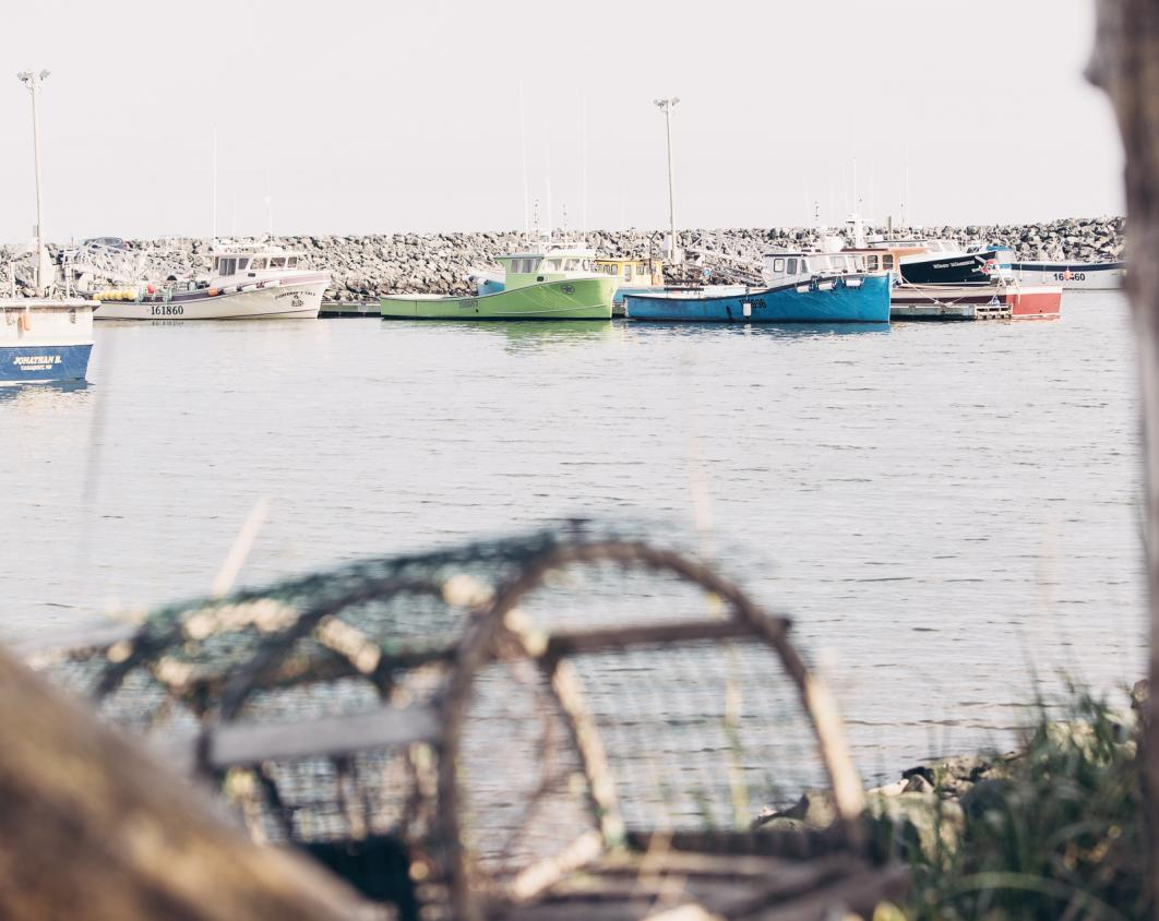 Fishing boats in Miscou