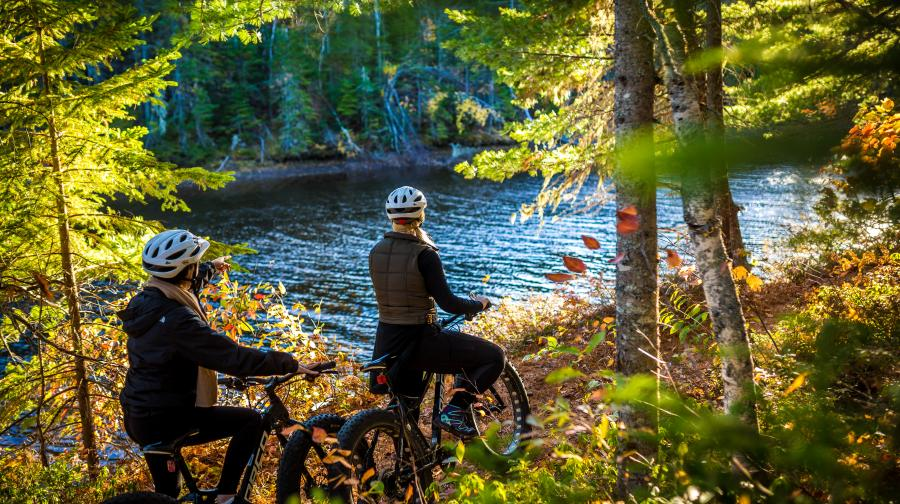 Kouchibouguac biking in the fall