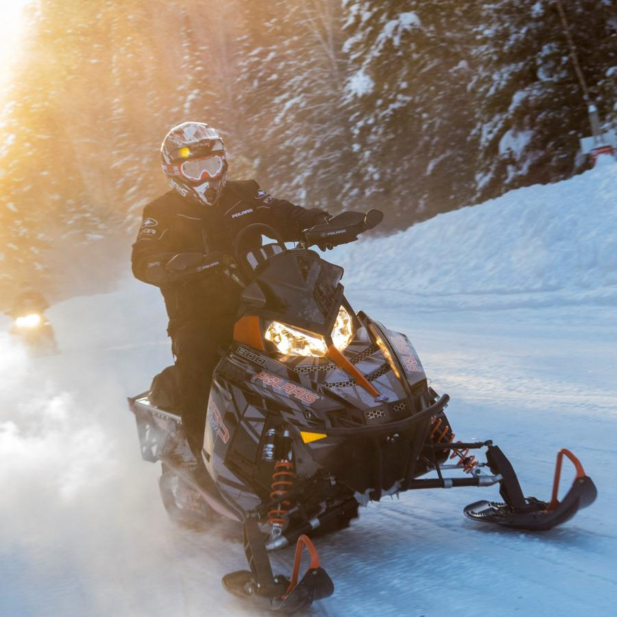 Snowmobiling, Christmas Mountain Trails